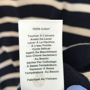 Talbots Dresses - TALBOTS 100% cotton striped shirt dress.navy/cream